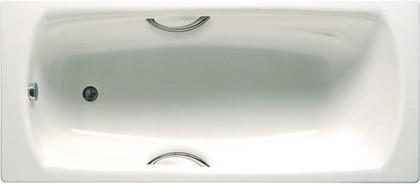 Стальная ванна с отверстиями под ручки 180х80см белая Roca SWING 2200E0000