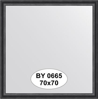 Зеркало 70x70см в багетной раме дуб чёрный Evoform BY 0665