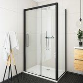 Душевой уголок Roltechnik Exclusive ECD2L, 130x80см, дверь слева, прозрачное стекло, чёрный 564-130000L-05-02/563-8000000-05-02