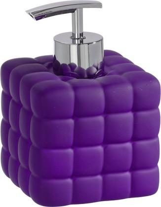 Ёмкость для жидкого мыла пурпурная Wenko CUBE 20451100
