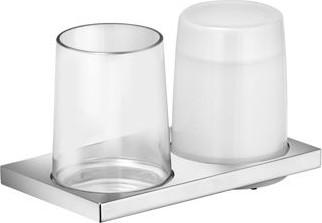 Держатель стакана и дозатора жидкого мыла двойной, хром Keuco Edition 11 11153019000
