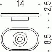 Запасная стеклянная подставка для мыла Colombo BART B2251