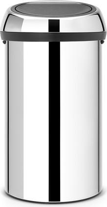 Ведро для мусора 60л стальное глянцевое Brabantia Touch Bin 402609
