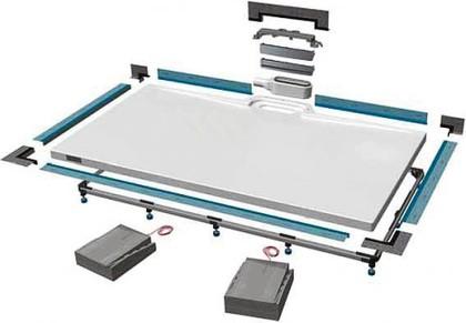 Монтажный набор №2 с полированной хромированной дизайнерской накладкой Kaldewei XETIS 6876.7632.0000