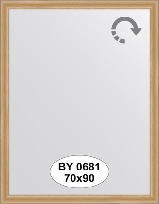 Зеркало 70x90см в багетной раме клён Evoform BY 0681