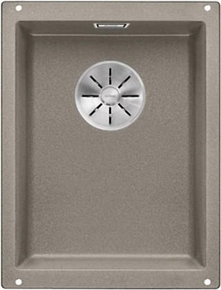 Кухонная мойка Blanco Subline 320-U, отводная арматура, серый беж 523413