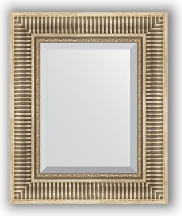 Зеркало 47x57см с фацетом 30мм в багетной раме серебряный акведук Evoform BY 1370