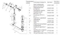 Смеситель вентильный на одно отверстие для биде, хром Grohe SINFONIA 24003000