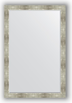 Зеркало 116x176см с фацетом 30мм в багетной раме алюминий Evoform BY 1220