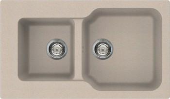 Кухонная мойка оборачиваемая без крыла, гранит, бежевый Omoikiri Maru 86-2-SA 4993286