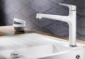 Смеситель кухонный однорычажный с высоким выдвижным изливом, кофе Blanco FELISA-S 520345