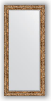 Зеркало с фацетом в багетной раме 75x165см виньетка античная бронза 85мм Evoform BY 3592