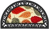 Коврик придверный 45х75см промежуточный осенние листья, кокос / резина Golze COCO RELIEF 547-30-12