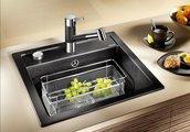 Кухонная мойка Blanco Dalago 5, без крыла, с клапаном-автоматом, гранит, жасмин 518525