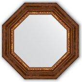 Зеркало Evoform Octagon 566x566 в багетной раме 88мм, римская бронза BY 3790