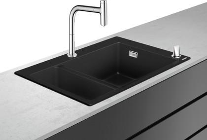 Кухонная мойка со смесителем Hansgrohe 180/450, комбинированная, хром 43220000