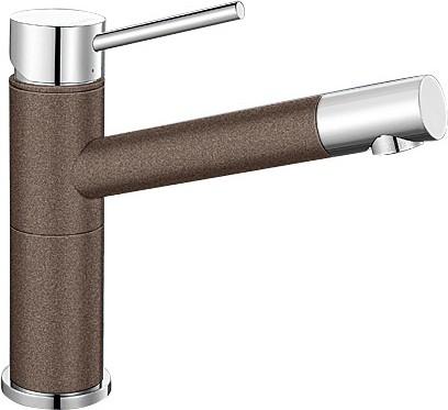 Небольшой кухонный однорычажный смеситель, хром / кофе Blanco ALTA Compact 515324