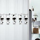 Штора для ванной Spirella Beagle, 180x200см, полиэтилен, чёрно-белый 1012416