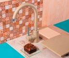 Смеситель однорычажный для кухонной мойки, марципан Omoikiri Shinagawa-MA 4994159
