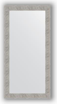 Зеркало в багетной раме 80x160см волна хром 90мм Evoform BY 3345