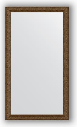 Зеркало в багетной раме 64x114см виньетка состаренная бронза 56мм Evoform BY 3201
