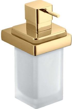 Дозатор для жидкого мыла настенный со стеклянной колбой золото Colombo Lulu B9321.gold