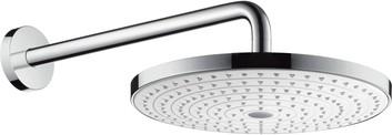 Верхний душ с настенным держателем, переключение кнопкой, хром / белый Hansgrohe Raindance Select S300 27378400