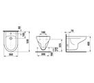 Керамическое подвесное биде 530х360 мм, белое Jika Olymp 306110003041