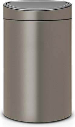 Ведро для мусора 40л, платина Brabantia Touch Bin 114908
