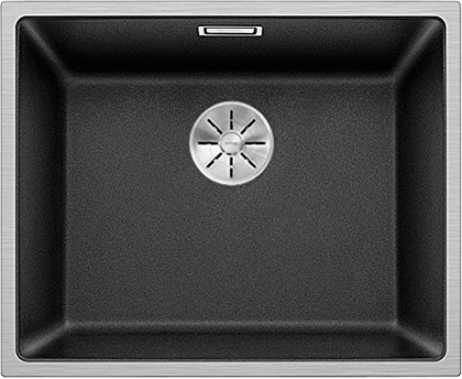 Кухонная мойка Blanco Subline 500-IF SteelFrame, сталь, гранит антрацит 524107