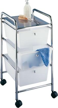 Этажерка для ванной комнаты на колёсах трёхъярусная Wenko MESSINA 16611100