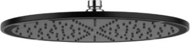 Верхний душ Kludi A-QA, круглый, плоский, 300мм, чёрный матовый 6433087-00