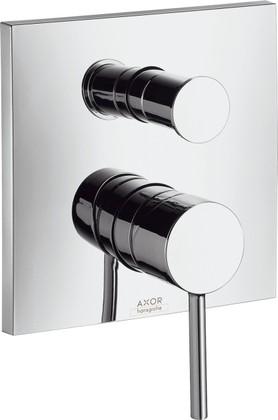 Смеситель для ванны однорычажный встраиваемый без встраиваемого механизма и без излива, хром Hansgrohe AXOR Starck X 10445000