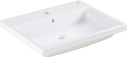 Раковина полувстраиваемая Grohe Cube Ceramic 60см, PureGuard, белый 3947900H