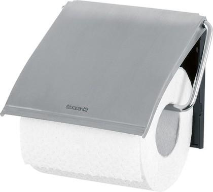 Держатель для туалетной бумаги Brabantia, с крышкой, с защитой от отпечатков пальцев, матовая сталь 385322