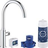 Вентиль для кухни Grohe Blue Pure Mono для питьевой воды, стартовый комплект, С-излив, хром 30387000