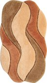 Коврик для ванной 70x120см абрикосовый Grund Carmen 2048.23.4053