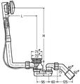 Слив-перелив с сифоном для нестандартных ванн Viega Multiplex Visign M1 138561