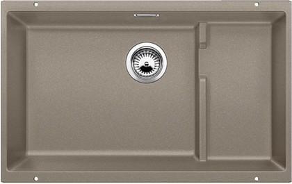Кухонная мойка без крыла, с клапаном-автоматом, гранит, серый беж Blanco Subline 700-U Level 518397
