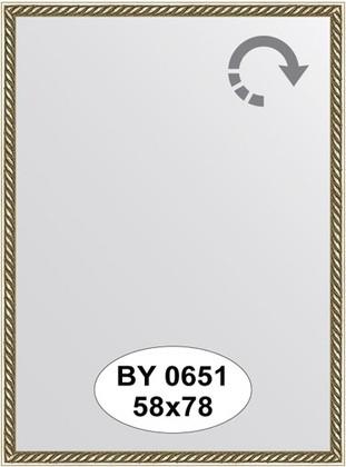 Зеркало 58x78см в багетной раме витая латунь Evoform BY 0651