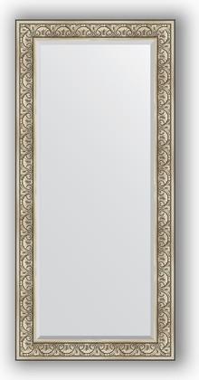 Зеркало с фацетом в багетной раме 80x170см барокко серебро 106мм Evoform BY 3606