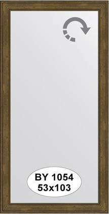 Зеркало 53x103см в багетной раме сухой тростник Evoform BY 1054