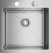 Кухонная мойка без крыла, нержавеющая сталь Omoikiri Kirisame 46-IN 4993057