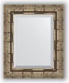 Зеркало Evoform Exclusive 430x530 с фацетом, в багетной раме 73мм, серебрянный бамбук BY 1358