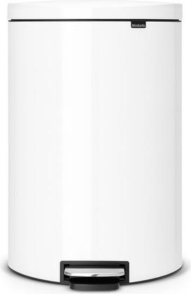 Мусорный бак 40л, белый Brabantia FlatBack+ 485244