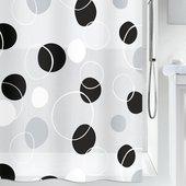 Штора для ванны 180x200см чёрная Spirella BUBBLE 1013043