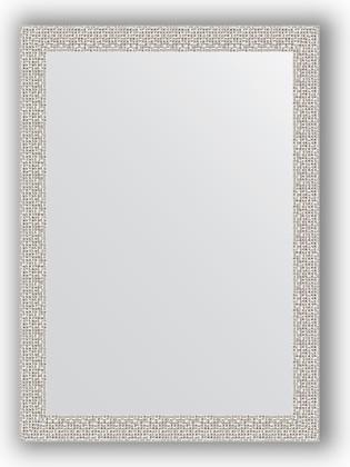 Зеркало в багетной раме 51x71см мозаика хром 46мм Evoform BY 3036