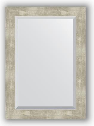 Зеркало 51x71см с фацетом 30мм в багетной раме алюминий Evoform BY 1129