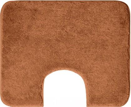 Коврик с вырезом под туалет 60x50см коричневый Grund Comfort 2399.06.4173