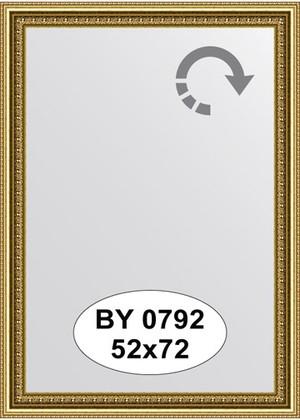 Зеркало 52x72см в багетной раме бусы золотые Evoform BY 0792